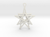3D Printed Star in the Universe Earrings by bondsw 3d printed