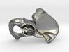 Hip Bone Keychain Fob 3d printed