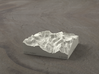 3'' Mt. Whitney, California, USA, Sandstone 3d printed Radiance rendering of model, viewed from the East, looking past Whitney Portal