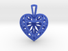 3D Printed Diamond Heart Cut Pendant (Small) 3d printed
