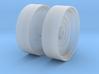 1/64th Outer Dual Wheel Rim 3d printed