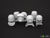 M.A.S.K Minifigure 7 Helmets and Shoulder Pads 3d printed