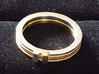 Slim Stackable Ring Size 7 3d printed Gold and Rhodium plated Brass