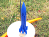 RocketCopter 3d printed On the launch pad in Royal Blue Strong & Flexible Polished