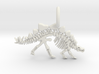 Stegosaurus Skeleton Pendant 3d printed