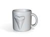 Shark Tooth Coffee Mug 3d printed