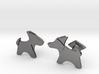 Origami Wet folded dog cufflink 3d printed