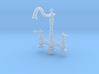 Miniature Doll House Kitchen Faucet B, 1:12 3d printed