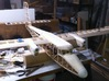 Twin Otter 480 engine cowling 3d printed In situ