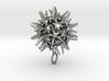 Radiolarian protozoa pendant 3d printed