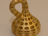 Klein Bottle 3d printed Matt Gold Steel