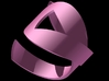 3D Breast Cancer Ribbon Ring (Size 12) 3d printed
