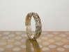 Cut Facets Ring Sz. 6 3d printed polished silver