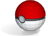 "Pokeball - Solid 1"" 3d printed"
