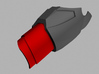 Iron Man Mark IV/VI Wrist Armor (2 Parts) 3d printed What's highlighted in red will be printed.  Goes with upper forearm armor.