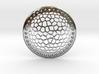Voronoi Disk Earring ~ 33.5mm diameter 3d printed
