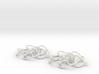 3D CURVE EARRINGS-6-lobe 3d printed