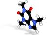 Caffeine Molecule Metal 3d printed
