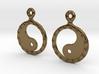 YinYang EarRings 2 - Pair - Metal 3d printed