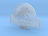Jurassic World Badge Part 1: Add your own name  3d printed