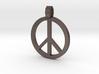 Peace Symbol Pendant 3d printed