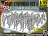 1-125 Army Modern Uniforms Set5 3d printed