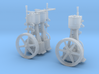 HO - S Two Vertical Steam Engines 3d printed