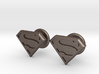 Man of Steel Cufflinks 3d printed