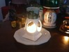 "Mystic Altar Oil Lamp ""Phi"" 3d printed Phi heats Japanese sake too!"