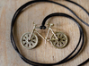 Bicycle brass pendant with moving wheels! 3d printed