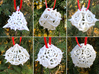 Thorn Dice Ornament Set 3d printed In White Strong & Flexible