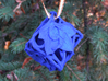 Botanical d6 Ornament 3d printed In Royal Blue Strong & Flexible Polished