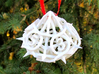 Thorn d10 Ornament 3d printed In White Strong & Flexible