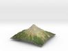 """Mt Taranaki Map - 9"""" 3d printed"""