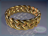 Celtic Knot Ring 2 - US Size 14 3d printed Raytraced DOF render simulating 14k gold material