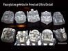 Graduate Boulder Faceplate (Titans Return) 3d printed Frosted Ultra Detail print (Shown with others)