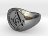 Masonic Ring size 10 3d printed