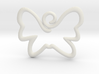Swirly Butterfly Pendant Charm 3d printed