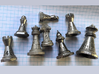 Chess shaped Dice (hollow) 3d printed customer print in Nickel Steel