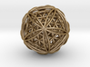 "Icosasphere w/Nest Flower of Life Icosahedron 1.8"" 3d printed"
