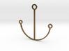 Minimalist Anchor Pendant 3d printed