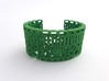Leaf Anatomy Cuff - Science Jewelry 3d printed Leaf anatomy cuff, medium in green
