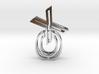 XO Interlocking necklace 3d printed