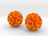 Suckerballs - A pair of 3D printed earrings 3d printed
