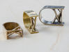 Synapse Ring 3d printed Synapse Ring in Polished Bronze, Brass and Silver