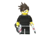 Custom Tracer Overwatch Inspired Lego 3d printed