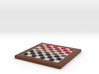 Checkers Board 1/12 Scale in Frame with Pieces 3d printed