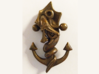Sea Serpent Anchor Pendant 3d printed
