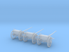 HO Cannon Limber 3 Pack 3d printed