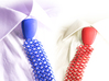 Debate-Tie Size L 3d printed Blue against red